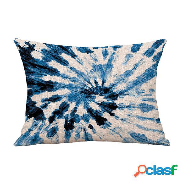 Linho de algodão tie-dye feito à mão abraço fronha almofada fronha sofá almofada impressão personalizada
