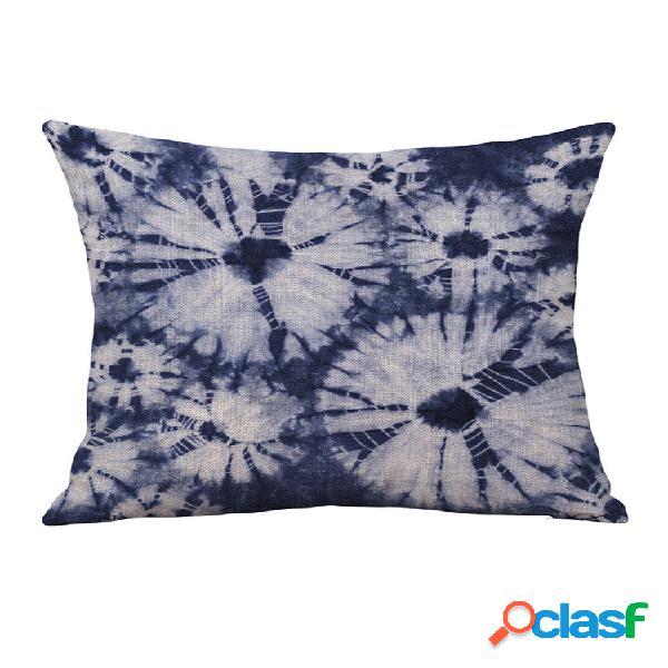 Travesseiro com impressão personalizada com núcleo feito à mão em linho de algodão. abraço fronha almofada fronha almofada de sofá