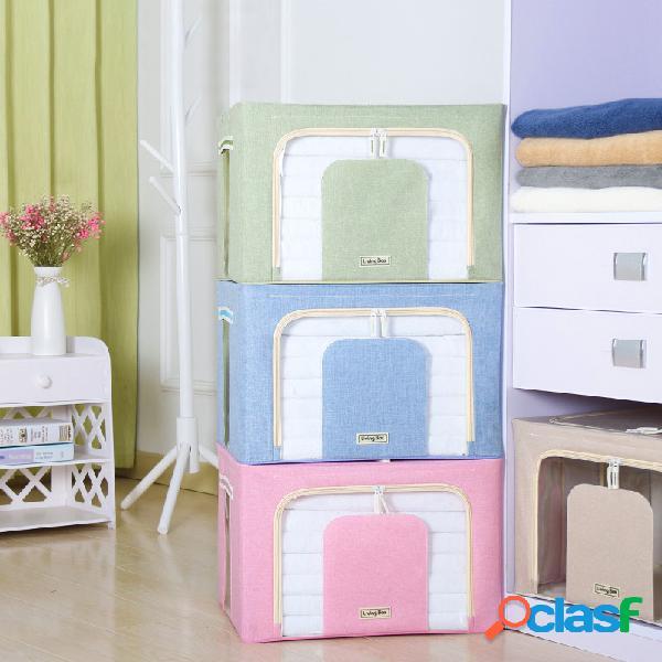 Armazenamento insípido caixa armazenamento caixa acabamento de colcha de roupas caixa dobramento de estrutura de aço múltiplo caixa armazenamento de colcha caixa