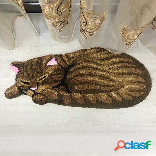 Tapete para dentro da porta tapete de cozinha gato bonito tapete de quarto para presente tapete de piso criativo