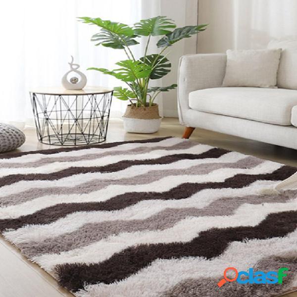 Long cabelo variegated tie-dye gradient carpet sala de estar quarto cobertor de cabeceira almofada de mesa de centro tapete completo de piso