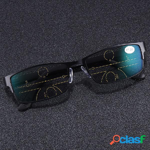 Leitura presbiópica multifocal progressiva ao ar livre óculos lente fotocromática óculos cuidados com os olhos