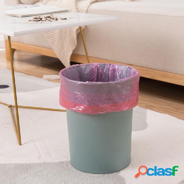 Lixo engrossado portátil doméstico bolsa fechamento com cordão lixo grande descartável bolsa