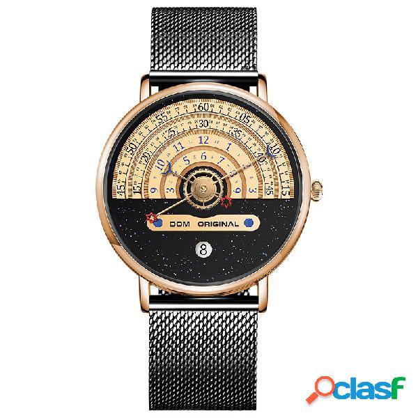 Relógio masculino fashion 3atm impermeável com mostrador único relógio casual de quartzo