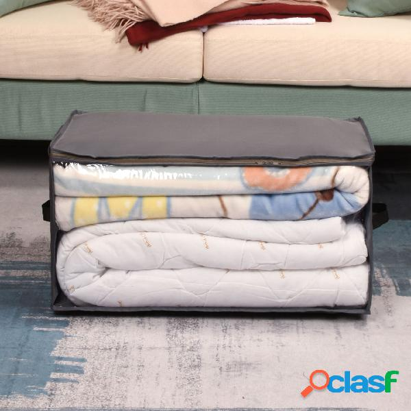 Armazenamento dobrável de pano oxford caixa armazenamento de edredom bolsa roupas de armário à prova de poeira armazenamento à prova de umidade bolsa
