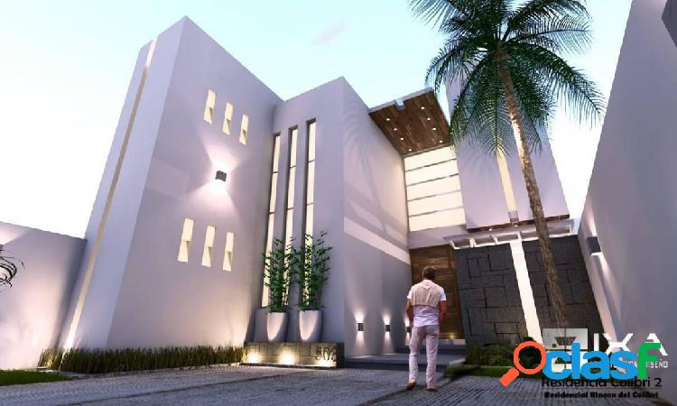 Hermosa casa en preventa residencial rincon del colibri colima