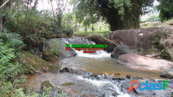 Sítio com riacho, cachoeira e lago em são francisco xavier