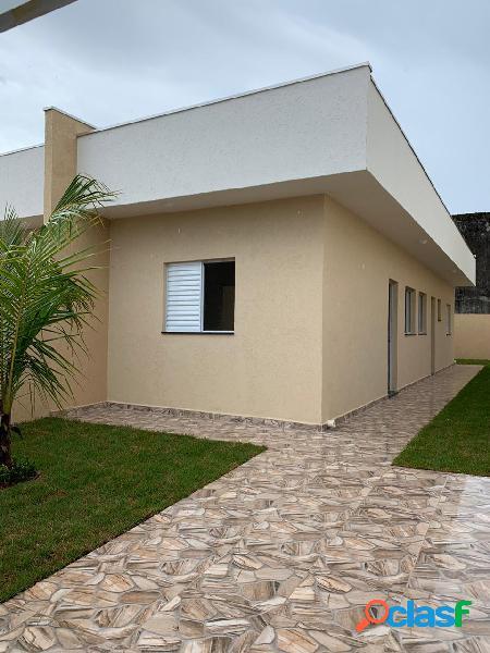 Casa geminada nova - região de moradores - itanhaém-sp