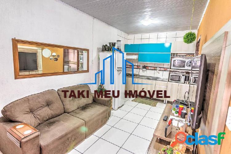 Casa com área privativa de 42,96m², 02 dormitórios, sala de estar, sala