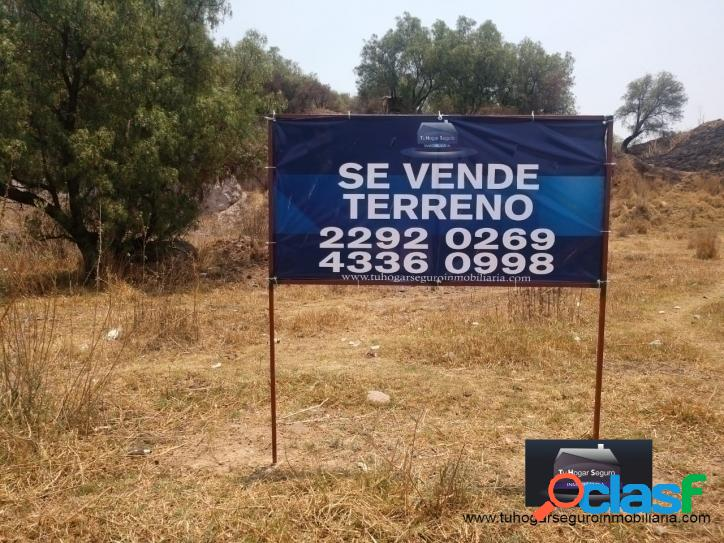 Terreno en venta en col. cuauhtémoc, tlalnepantla estado de méxico