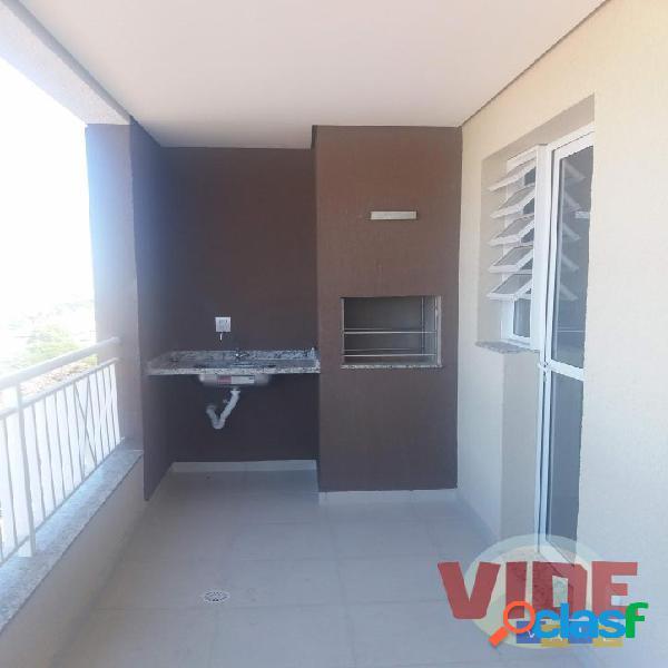 Apartamento c/ 2 dormitórios (1 suíte), varanda gourmet, 69 m². pronto para morar! no coração do parque industrial, em sjc