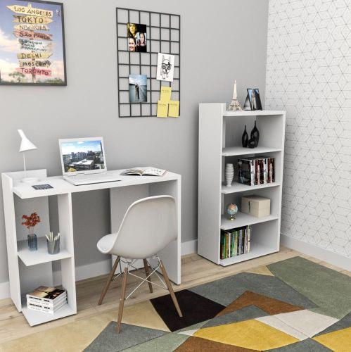 Conjunto escritorio 2 pe/u00e7as sense - branco - appunto