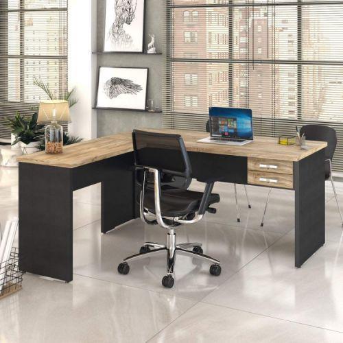 Mesa de escrit/u00f3rio em l 1,60x1,60m com 2 gavetas work30