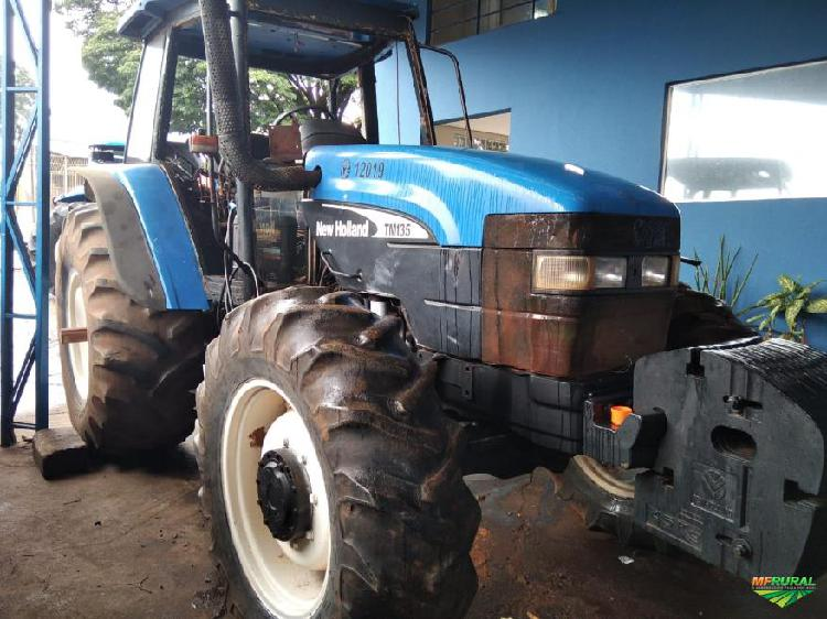 Trator new holland tm 135 4x2 ano 04