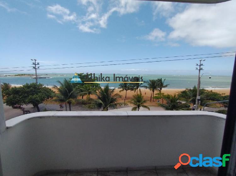 Apartamento 3 quartos 1 suíte frente mar na praia da costa
