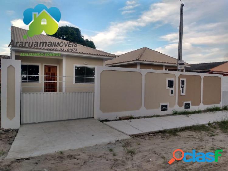 Excelente casa nova em araruama localizada no bairro três vendas