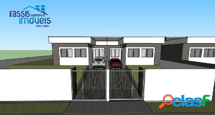 Vendo casa nova frontal em excelente localização