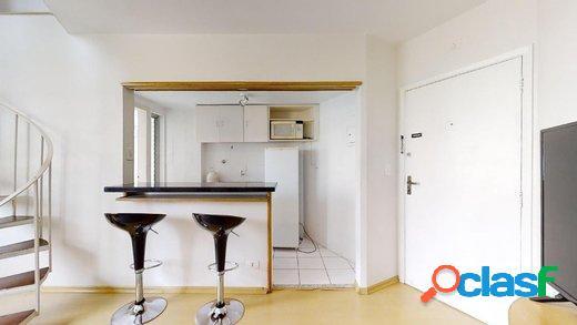 Apartamento vila nova conceição, 1 quarto, 1 vaga, 45m.