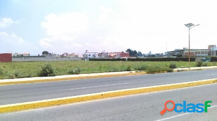 Venta de terreno comercial/residencial sobre av. principal en metepec