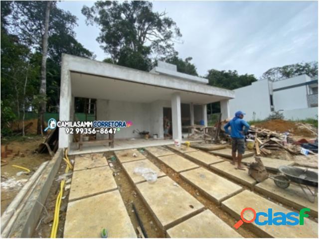 Residencial quinta das marinas - casa em condomínio em manaus - ponta negra por 520 mil à venda