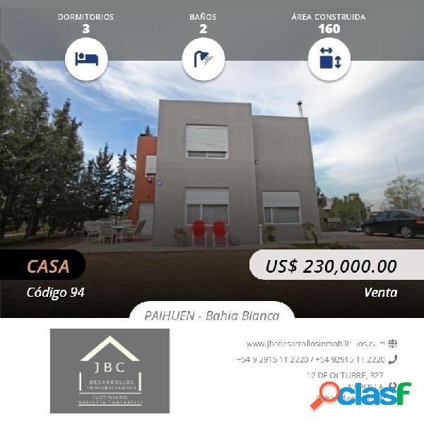 Casa venta-permuta, hermosa casa en barrio paihuen