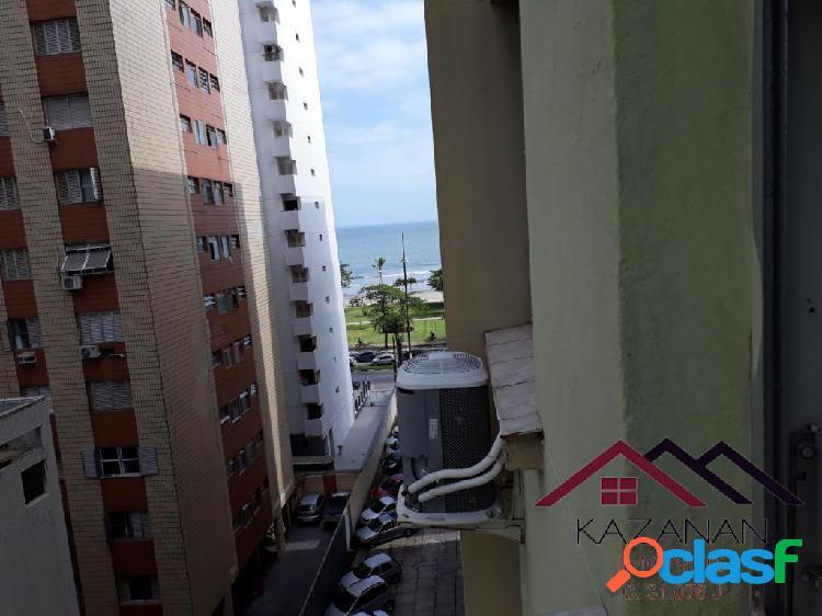 Apartamento 2 dormitórios vista mar embaré santos sp