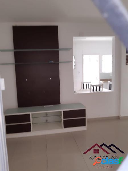 Apartamento terreo semi mobiliado com 2 dormitorios -embare- santos