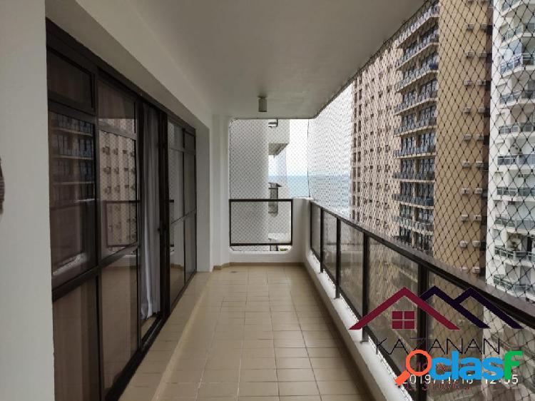 Apartamento 3 dormitórios vista mar praia das pitangueiras guarujá sp
