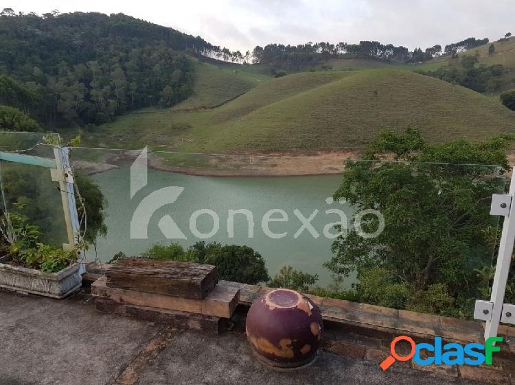 Chácara de 3.000 m² à venda em paraibuna/sp com acesso a represa