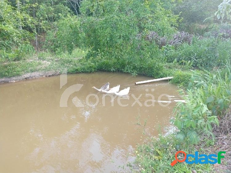 Sítio de 5 alqueires à venda em santa branca/sp com lago para pesca