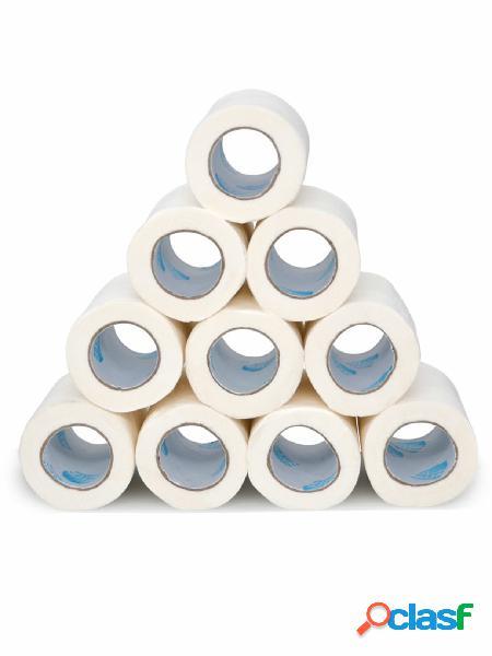 10 rolos de papel higiênico de 4 camadas, toalhas de papel doméstico, tecido de banho, tecido banheiro, branco soft, papel