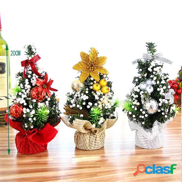 20 cm mini árvore de natal flor mesa decoração do partido do festival enfeites de presente