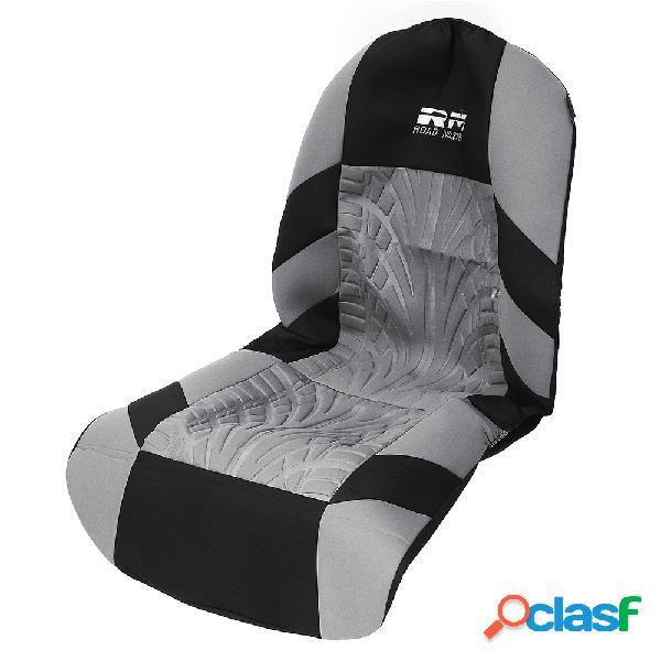 Almofada protetora protetora de assento dianteiro para carro com tecido duplo para carro e tampa universal preta e cinza