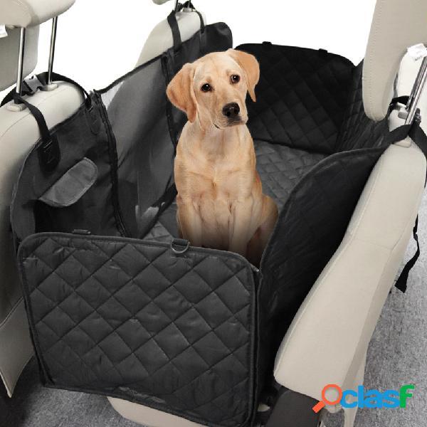Animal de estimação multifuncional cachorro tapete de cobertura para banco traseiro de carro de viagem com barreira de segurança capa de assento à prova d'água