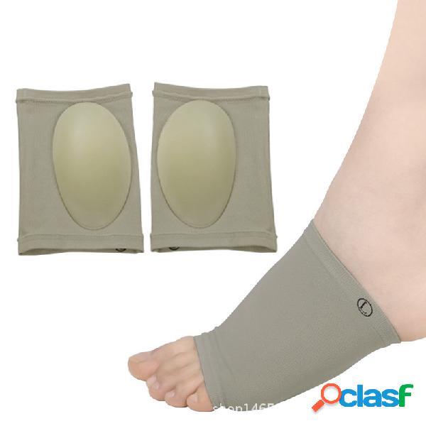 Arco do pé corrector curativo elástico arco de silicone plana unisex correção palmilha cuidados com os pés