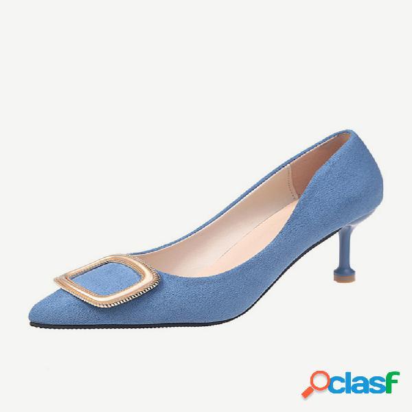 Sandálias femininas de ponta rasa de tamanho grande