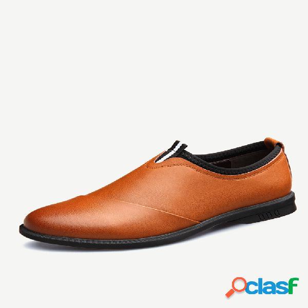 Sapatos formais casuais masculinos em microfibra de couro resistente ao deslizamento soft