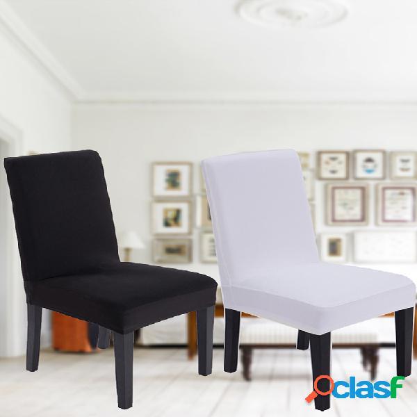 Capa elástica elegante preta e branca para cadeira universal para casamento e decoração para cadeira de jantar