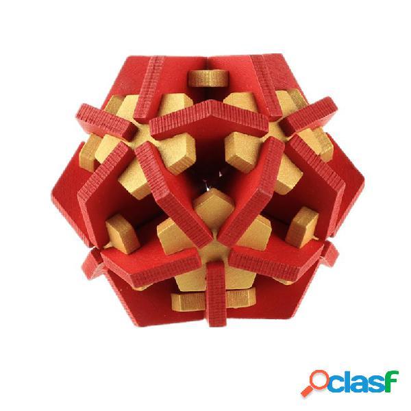 Wooden emperor star brinquedos educativos para crianças kong ming lock brinquedos educativos para crianças