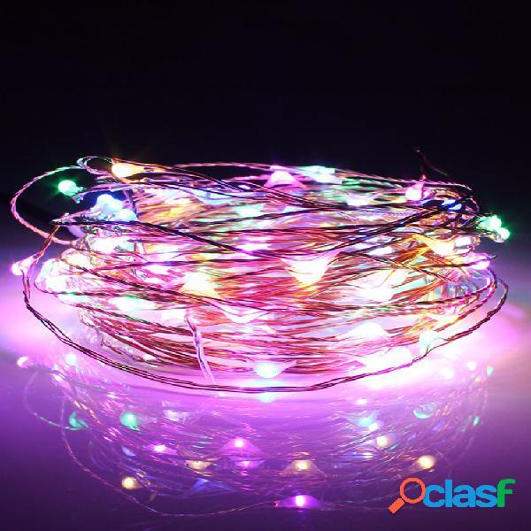 10m 100 led solar powered copper fio fairy string light para decoração de casa de festa de natal