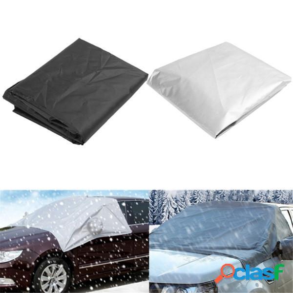 170cmx110cm car wind shield snow cover protetor à prova d'água protetor solar com gancho