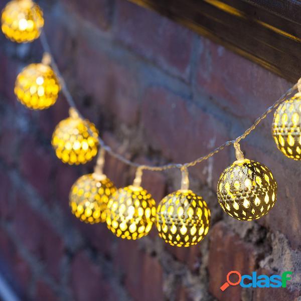 Kcasa ssl-12 led 4.8m 20led jardinagem painel solar light ball holiday garden party wedding decoration