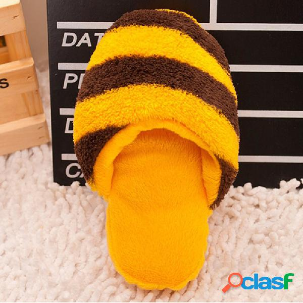 Cute plush slipper shape squeaky toy puppy chew jogar toy sound pet supplies para cães