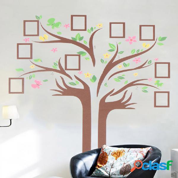 Decalque de parede de árvore genealógica grande varanda decoração de estêncil de quarto de casa diy galeria de fotos decoração de moldura varandaer
