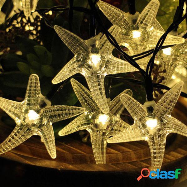 Kcasa ssl-11 gardening 6m 30led painel solar string light starfish holiday party wedding decoration