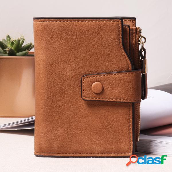 Carteira de vespa feminina carteira de arrumação longa 7 suporte de cartão bolsa de mochila em couro de couro pu