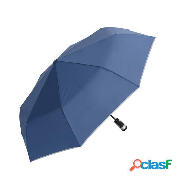 Hengli ru-01 multifuncional led luminous automatic umbrella mulheres homens rain umbrellas travel light