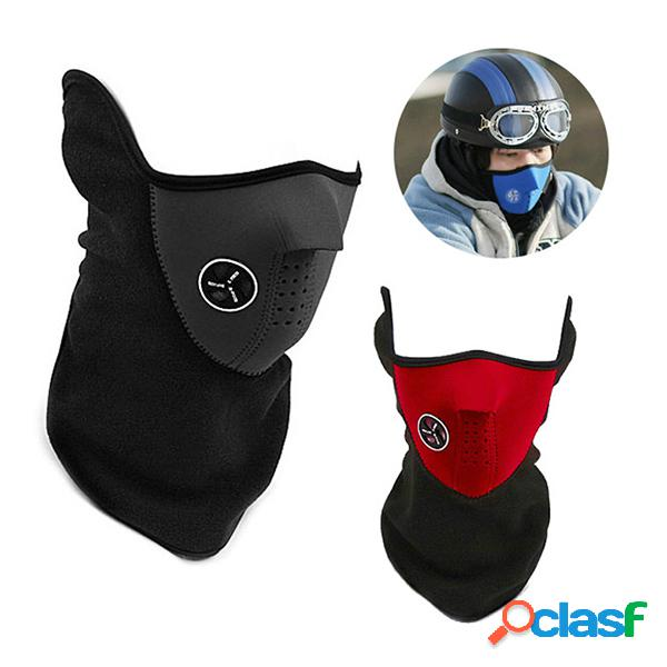 Máscara facial de proteção para esqui caminhada à prova de vento