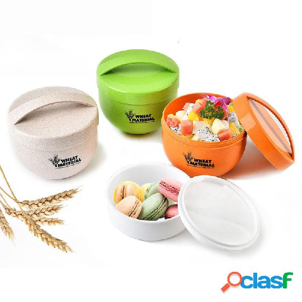Kcasa kc-bch18 800ml round wheat fiber lunch box portátil eco-friendly food container tote