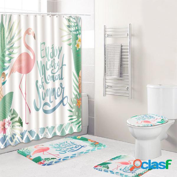 3 pcs banheiro conjunto de carpete tampa de vaso sanitário 3d define tecido de poliéster